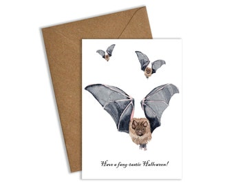 Bat Halloween Card, Bat Card, Halloween Card, Halloween Cards, Have a fang-tastic Halloween