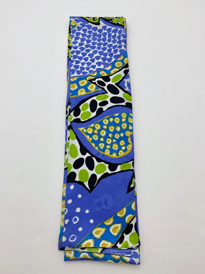 Abstract Silk Jacquard Ascot in Royal Gold /& Lime Print with Guitars and ELVIS Embossing Square Ends for Fantasy Cosplay