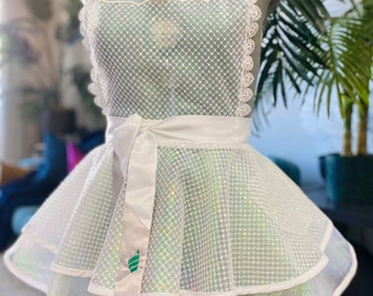 Sassy Sequins Apron, Bridal Shower Gift, Sexy Apron, Bridal Lingerie, Bachelorette Gift, Bridal Apron, Honeymoon Lingerie, draped in elan
