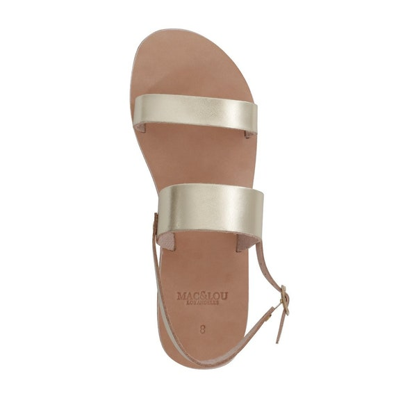 USA Seller: MAC&LOU Clio Greek Leather Sandals Handmade with Vibram Sole