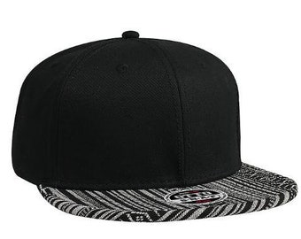 9e2d7255e9f Custom Embroidery Aztec Snapback Black and White Two-tone Aztec Hat Your  Custom Text or Logo Red Personalized