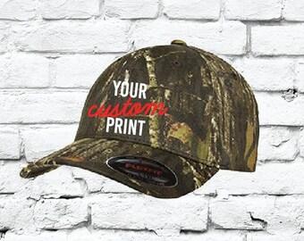 Flexfit Fitted Camo Baseball Cap Custom Embroidery Your Custom Print Mossy  Oak Breakup Fitted Hat 6999 3b951394cbaf