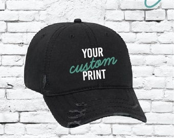Custom Embroidery Ripped Adult Distressed Dad Hat 6 Panel Low Profile Twill  Superior Washed Cotton Baseball Cap Old Weathered Look 1886cd1c2639