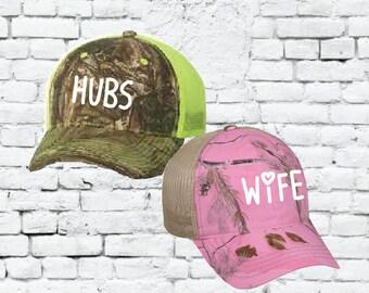 cd77301e66003 Hubs and Wife Snapbacks Custom Print Snapbacks Couple Snapback Camo and  Black and White Hats Mix and Match Hats Honeymoon