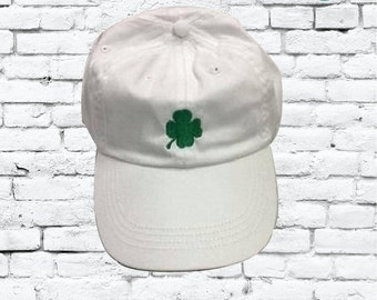 d4748da80a9 Shamrock Unstructured Dad Hat Saint Patricks Hat St. Patty s Day or Your  Color Choice
