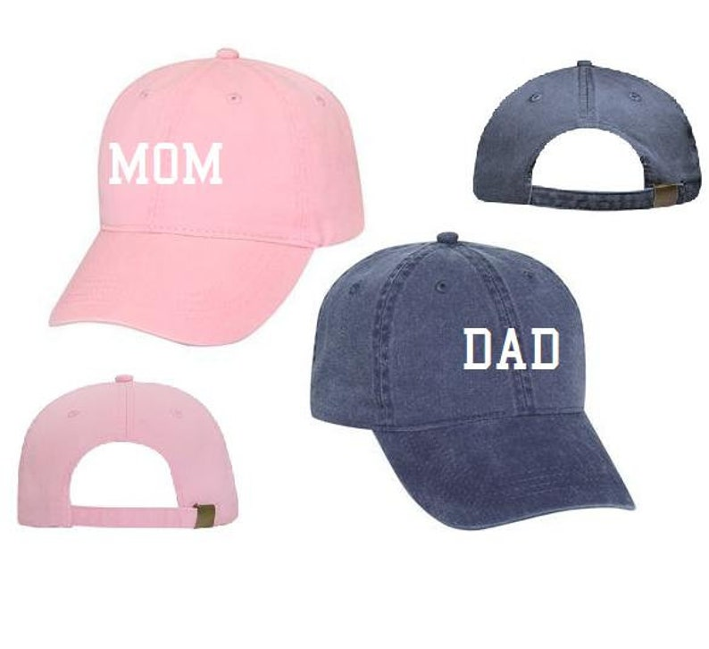 ebbb602d Mom & Dad Unstructured Dad Hat Gift or Baby Announcement Light   Etsy