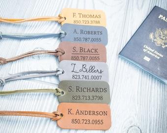 Custom Luggage Tag, Personalized Luggage Tag, Leather luggage tag, leather name tag, customized leather tag, leather key tag, Travel tag,