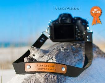 Handmade Leather Camera Strap, Custom Personalized camera strap, Photography Strap, Nikon, Canon, Sony Camera Strap, gift for men, pro strap