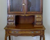 Vintage French Country Provincial Secretary Ladies Writing Desk Escritoire by Thomasville