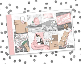 Home Sweet Home // ULTIMATE KIT (Glossy Planner Stickers)