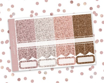 Hitched // Glitter Header Sampler (Glossy Planner Stickers)