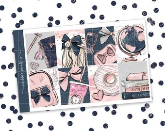 Bow to School // ULTIMATE KIT (Glossy Planner Stickers)