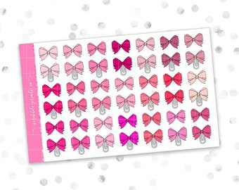 Bows (Glossy Planner Stickers)