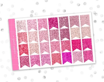 Glitter Flags (Glossy Planner Stickers)