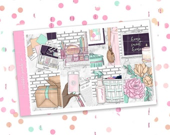 Home // ULTIMATE KIT (Glossy Planner Stickers)