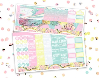 August - Jessica // Personal Monthly Planner Sheet (Glossy Planner Stickers)