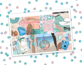 MINI KIT // Beach Babe (Glossy Planner Stickers)