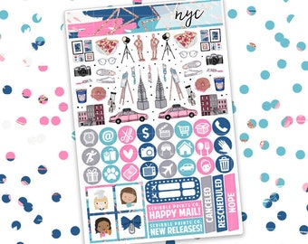 ULTIMATE KIT // NYC (Glossy Planner Stickers)