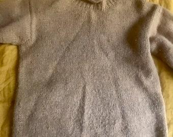 Mustard yellow 100% wool oversized sweater