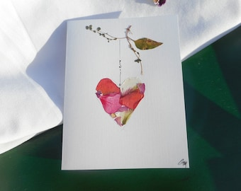 """Send a  """"You are Beautiful!""""  Card with your heart.  A Heart shape collage of different petals.etier"""".  No message inside."""