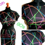 80's NEON DRESS (handmade & custom printed fabric)