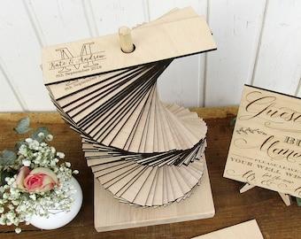 Wedding Guest Book Alternative, Initial Wedding Guest Book Tower, Custom Wood Wedding Guestbook, Build Memories Guestbook, 3D Guest Book