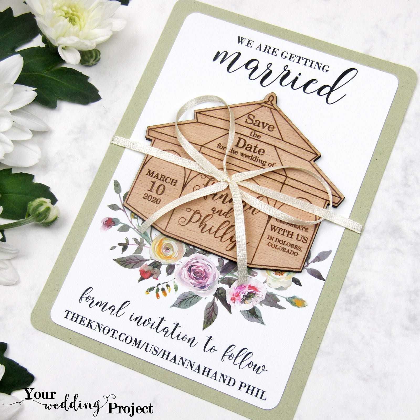 Save The Date Magnet Gazebo Save The Date Wood Save The Etsy