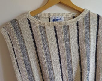 Vintage striped sleeveless sweater
