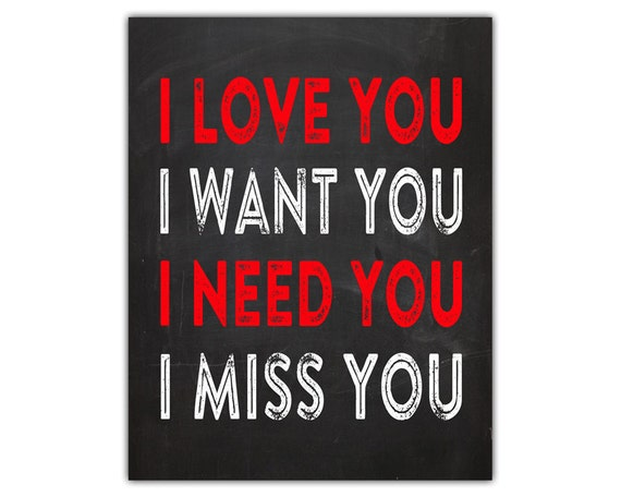 Items Similar To I Love You I Want You I Need You I Miss You