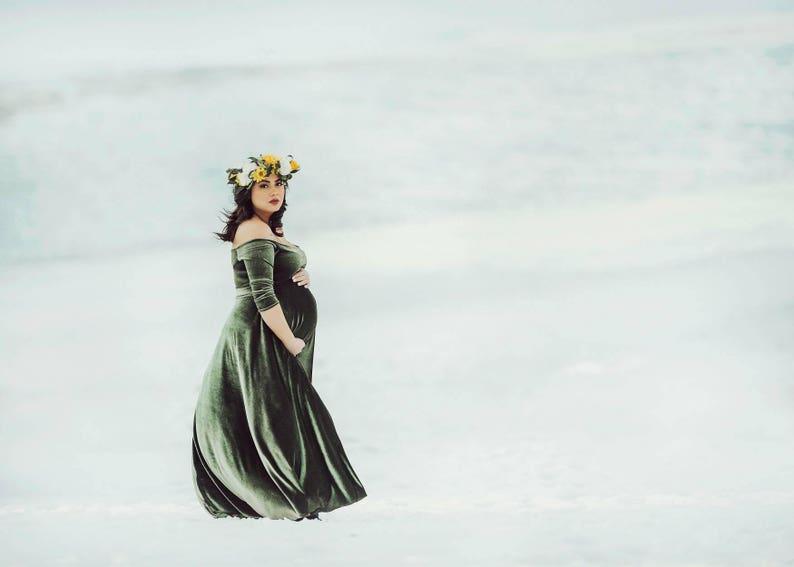 14e62f146c8 Velvet maternity gown maternity dress maternity gowns