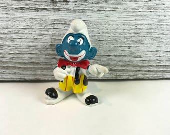 Smurfs Clown Smurf 20033 Vintage Circus Figure 1978 PVC Toy Schleich Figurine Zabawki z filmów i seriali