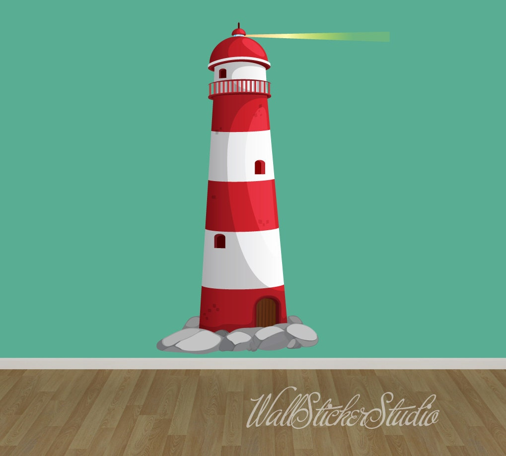 Lighthouse Wall Decal Nautical Fabric Wall Decal Stickers