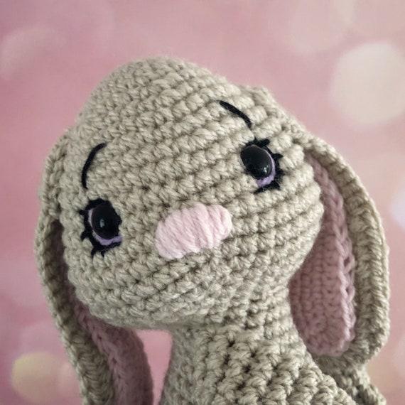 Rabbit Tie Backs Part - 19: Bunny rabbit curtain tie back crochet PATTERN tieback left | Etsy