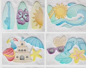 Beach Theme Hand Towel,Surfboards Towel,Wave Towel,Sailboat,Sand Castle Hand Towel,Bikini Towel.Flip Flops Hand Towel,Beach House Hand Towel