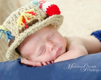 Ready To Ship,Crochet Little Fisherman Newborn Photo Prop,Fisherman Photo Prop,Photo Prop for Babies,Baby Halloween Costume,Prop for Boys