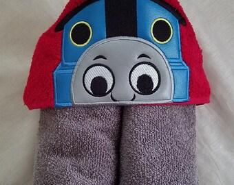 Kids Hooded Towel.Kids Hooded Towel,Child's Hooded Towel,Personalized Kids Hooded Towel,Train Hooded Bath Towel,Kids Gift,Kids Bath Towel