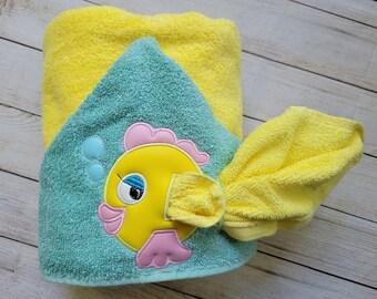 Fish Hooded Towel,FishTowel,Kids Hooded Towel,Personalized Hooded Bath Towel,Hooded Bath Towel,Kids Birthday Gift,Ready To Ship Towel