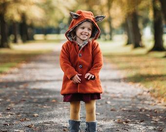 Childs Winter Fleece Jacket with Fox Ears