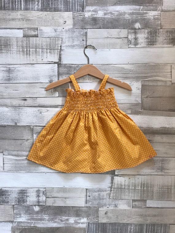 cddf7a7ecc78 Yellow Baby Dress Newborn Baby Dress New Baby Gift Baby