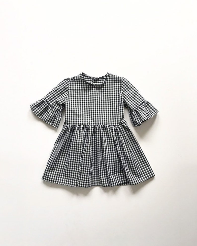 8db3b1d05 Gingham Girls Dress Vintage Style Girls Clothing Long