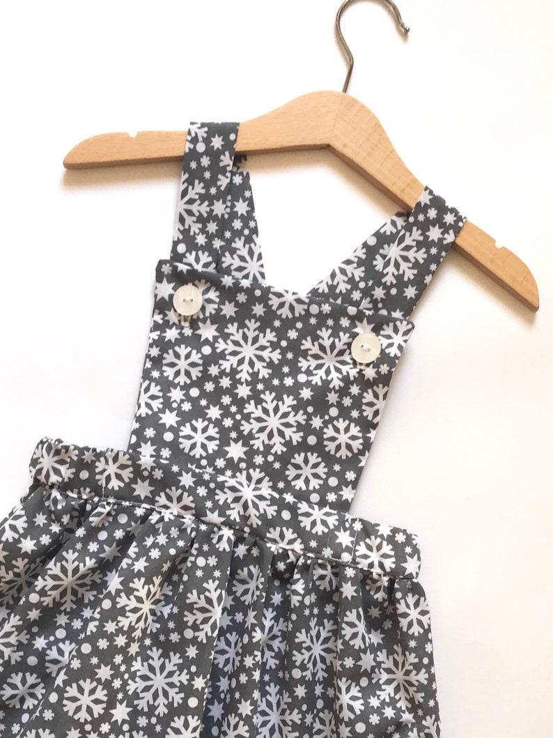 a057bbc55f44 Snowflake Print Dress Christmas Girls Dress Star Pattern | Etsy