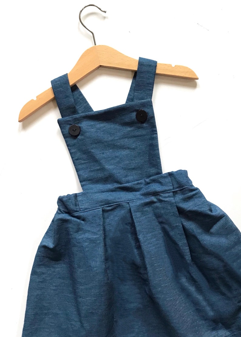 53a6d950c1e3 Denim Pinafore Dress Denim Dress for Girls Girls Clothing | Etsy