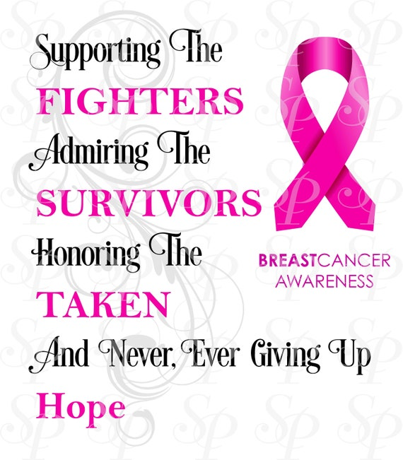 Breast Cancer Awareness Design Download Etsy