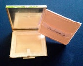 Vintage Mother Of Pearl Designer Makeup Compact By Pearl Case Co. Featuring Inlaid Design