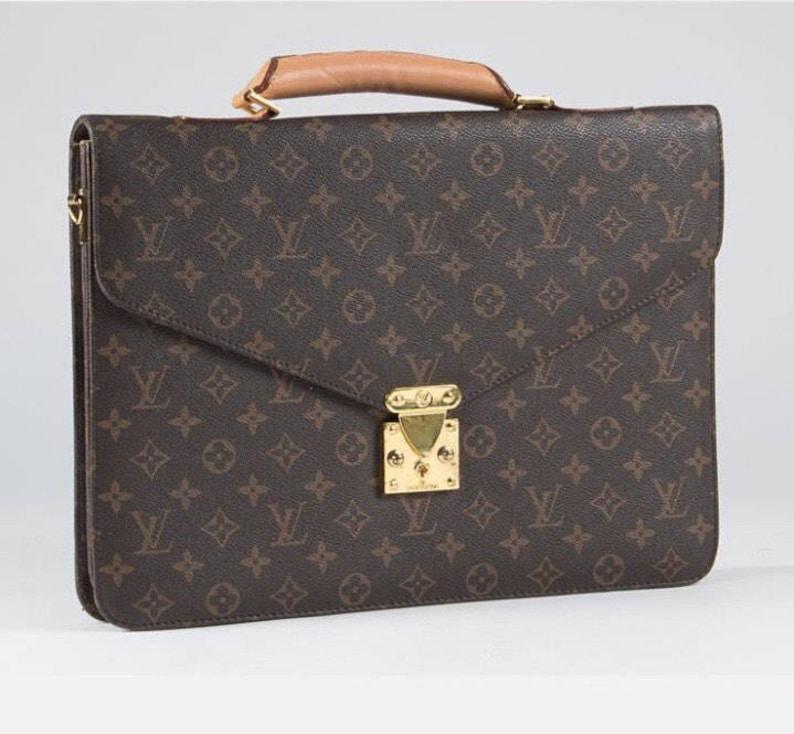 6cb752b711 Vintage Monogram Louis Vuitton Serviette Conseiller Robusto | Etsy