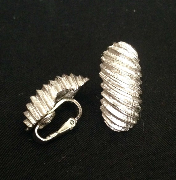 Never Worn 1.5 Triangles Vintage Clip Backs BIG Eclectic SIMON SEBBAG Sterling Silver /& Rhinestone Earrings Orig Retail 225.00