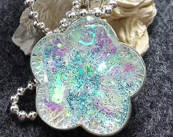 Sparkle Flower Resin Pendant/Key ring/Zipper pull/Magnet Free Shipping!!!