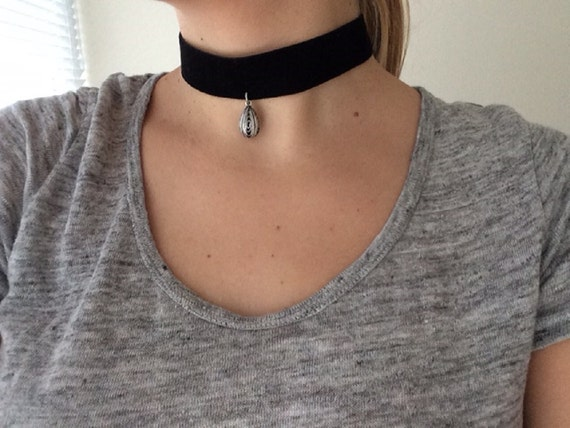 Synthetic Suede Braided Tan Choker with Silver Color Cactus Charm