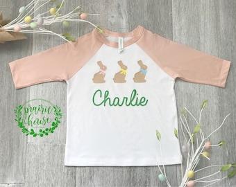 GIRL'S PINK Easter Chocolate Bunny Shirt