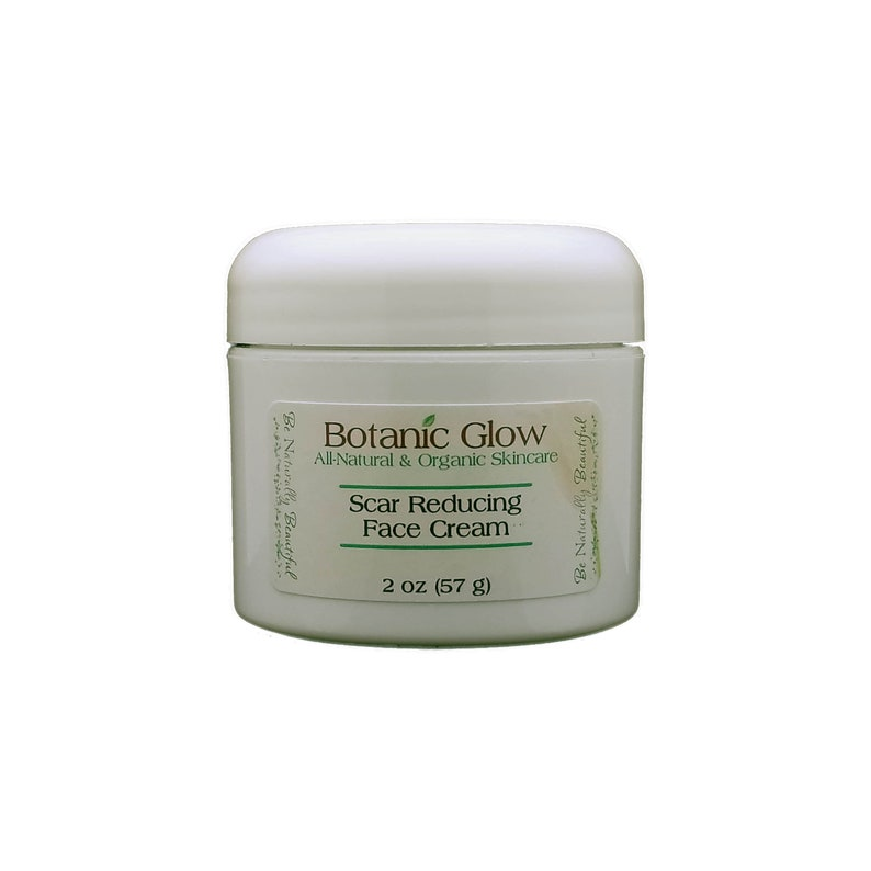 All Natural Acne Scar Face Cream 2 oz - Dark Spot Remover - Scar Fade Cream  - Face Lighten Cream - Acne Scar Treatment by BotanicGlow